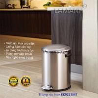 Thùng rác inox EK9217 (tròn 8L)