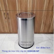 Thùng rác tròn nắp lật EK9410B (Ø38x73cm)